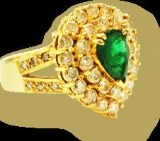 宝石が付いている指輪