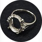 石の取れた指輪
