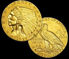 インディアン金貨 2.5ドル