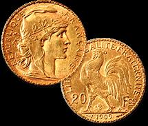 マリアンヌ・ルースター金貨 20フラン