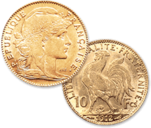 マリアンヌ・ルースター金貨 10フラン