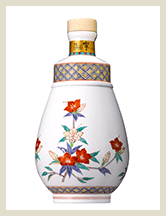 サントリー 響35年 十四代酒井田柿右衛門(さかいだかきえもん)作 濁手(にごしで)山つつじ文洋酒瓶