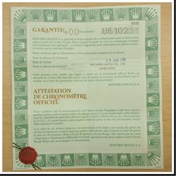 デイトナ16520の保証書の写真
