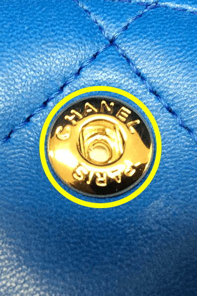 本物(2015年製造のラムスキン)のホック