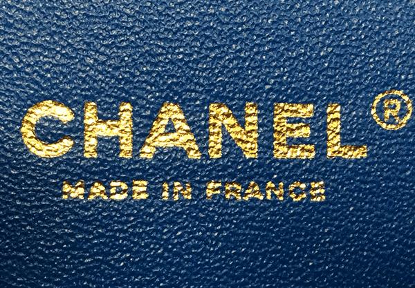 本物(2015年製造のラムスキン)の刻印