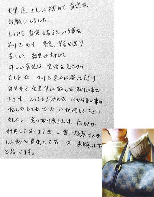 千葉県八街市 女性 バッグ ルイ・ヴィトン ダミエ パピヨン